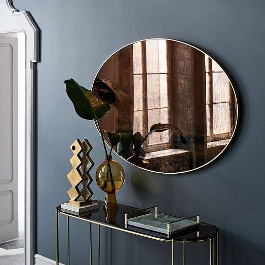 Scenery Wall Mirror – Large Oval | West Elm With Regard To Large Oval Wall Mirrors (#28 of 30)