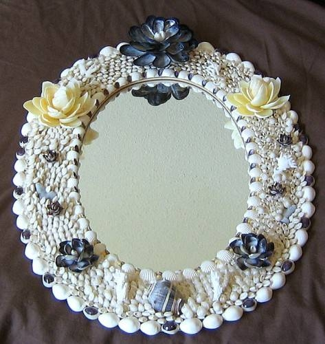 Seashell Embellished Oval Mirror – Ocean Blooms Now With Embellished Mirrors (#28 of 30)
