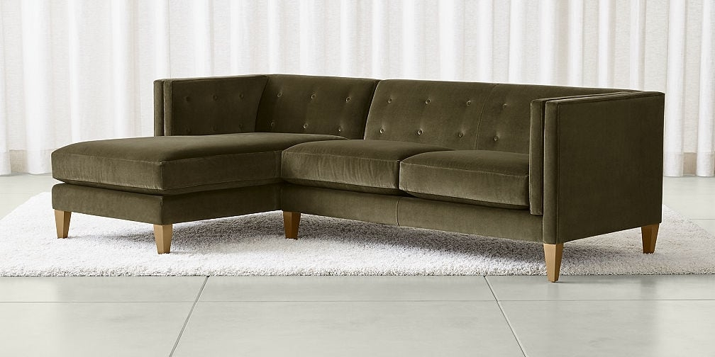 Sectional Sofas Leather And Fabric Crate And Barrel Within Sectinal Sofas (View 4 of 15)