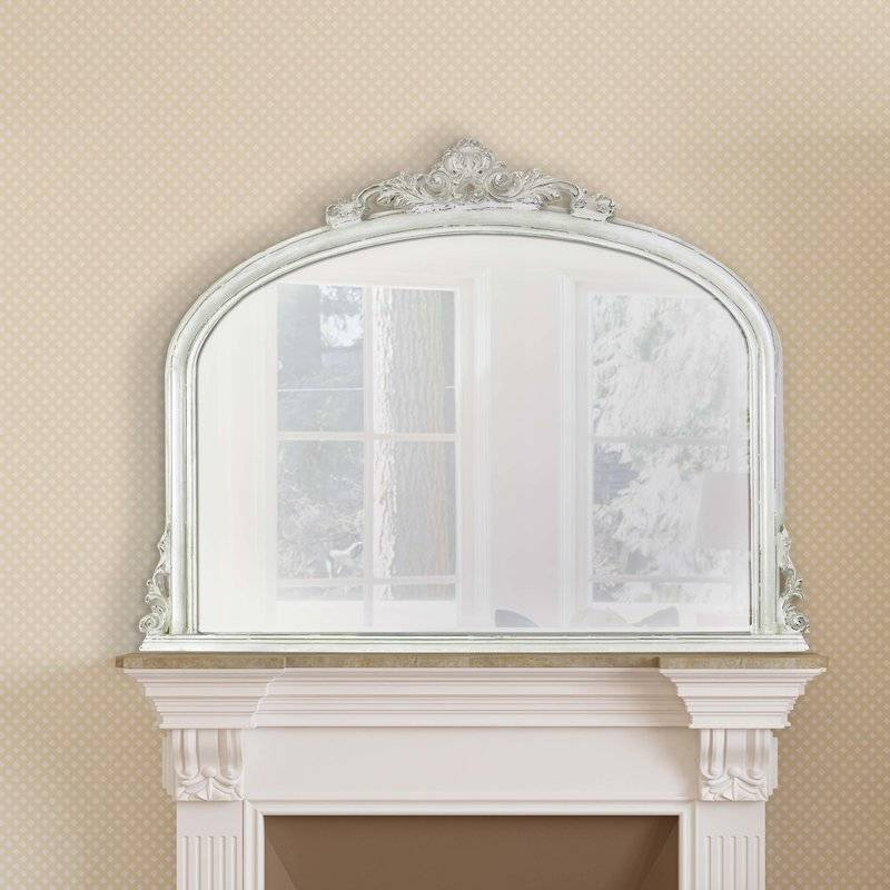 Selectionschaumont Amarone Over Mantle Mirror & Reviews | Wayfair Throughout White Overmantle Mirrors (#21 of 30)