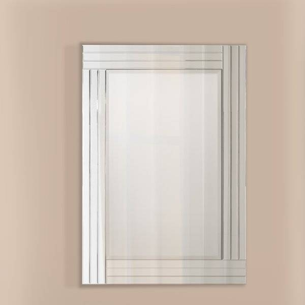 Selectionschaumont Gatsby Art Deco Wall Mirror & Reviews | Wayfair Throughout Art Deco Wall Mirrors (#19 of 20)
