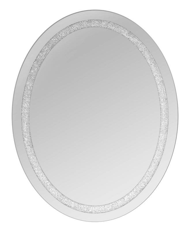 Selectionschaumont Oval Beaded Crystal Wall Mirror & Reviews In White Oval Wall Mirrors (#25 of 30)