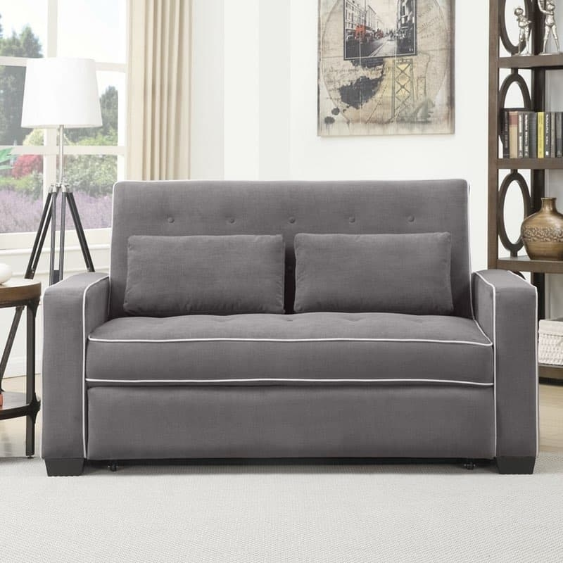 Serta Augustine Convertible Sofa Bed With Sofa Lounger Beds (#11 of 15)
