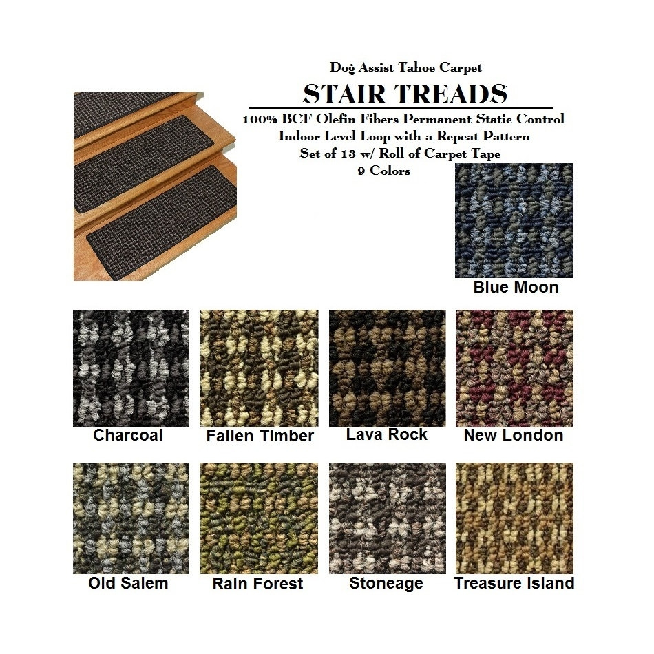 Set Of 13 8×24 Dog Assist Stair Treads Tahoe Within Carpet Stair Treads For Dogs (#19 of 20)