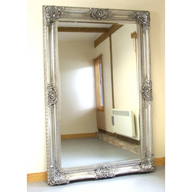 Seville Ornate Extra Large French Full Length Wall Leaner Mirror With Regard To Extra Large Ornate Mirrors (View 19 of 20)