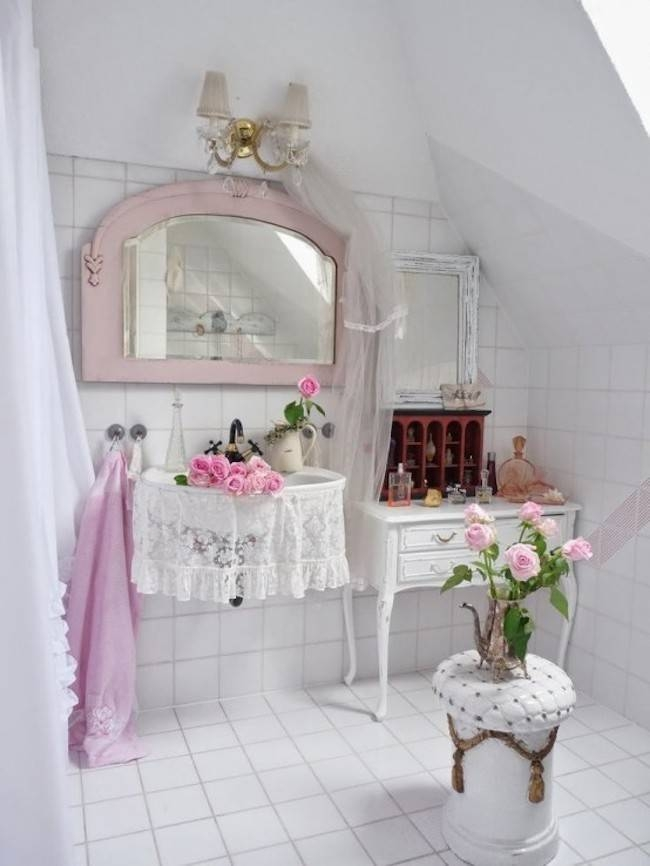 Shabby Chic Bathroom Mirror Diy Project – The Accessories For The Inside Shabby Chic Bathroom Mirrors (#24 of 30)