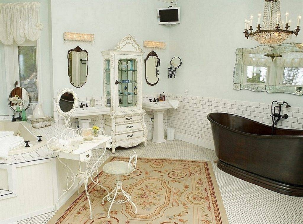 Shabby Chic Bathroom Mirror – Harpsounds (#25 of 30)