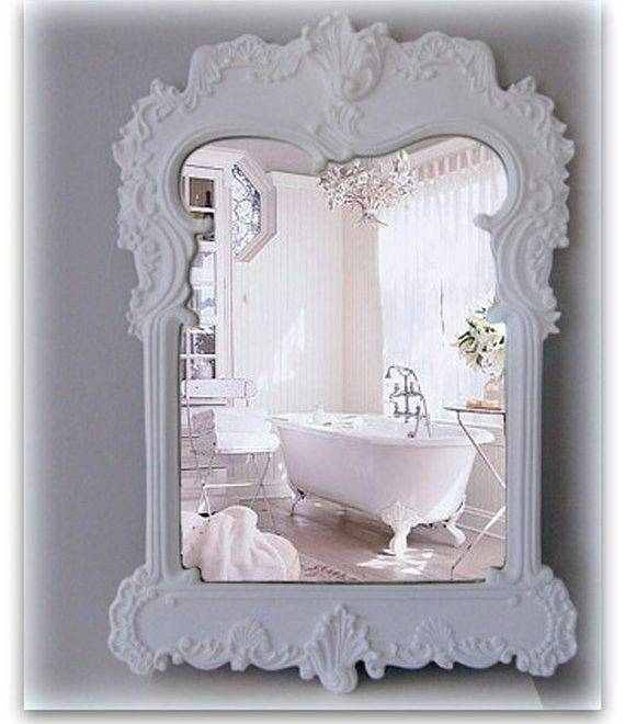 Inspiration about Shabby Chic Bathroom Mirrors – D Y R O N Intended For Shabby Chic Bathroom Mirrors (#10 of 30)