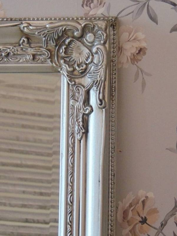 Shabby Chic Classic Tall Silver Ornate Mirror Within Silver Ornate Mirrors (#20 of 30)