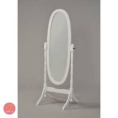 Shabby Chic Floor Mirror White Finish Standing Bedroom Large Wood With Shabby Chic Floor Mirrors (#15 of 20)