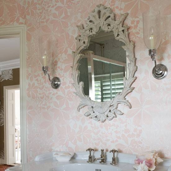 Shabby Chic Kids Bathroom Wallpaper Design Ideas Intended For Shabby Chic Bathroom Mirrors (#28 of 30)