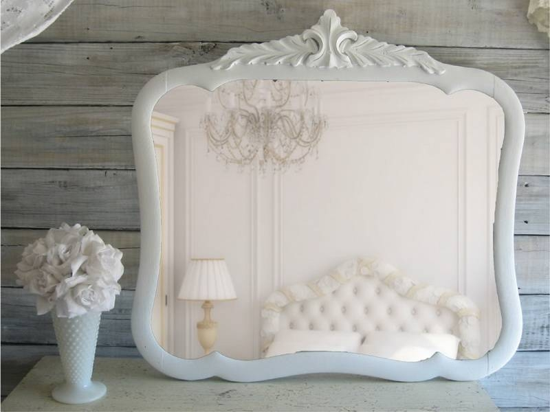 Shabby Chic Mirror | Home Design Styles In White Large Shabby Chic Mirrors (#27 of 30)