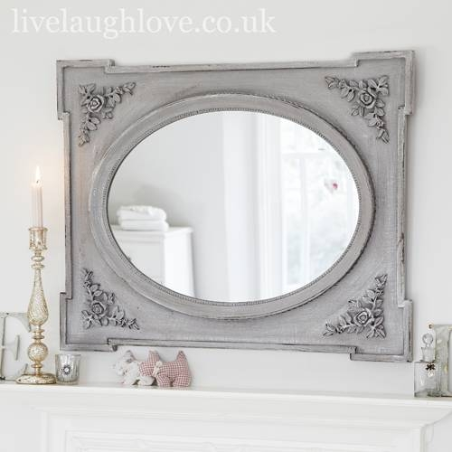 Shabby Chic Mirror Ideas For Home Design – White Distressed Shabby In Shabby Chic Wall Mirrors (View 15 of 30)