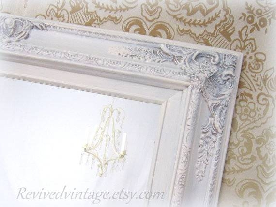 Shabby Chic Mirrors For Sale Baroque Framed Mirror Throughout White Shabby Chic Mirrors Sale (#20 of 20)