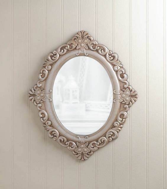 Shabby Chic Style Mirrors, Shabby Chic Style Decor – Bargain Bunch In Vintage Looking Mirrors (#16 of 20)