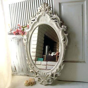 Shabby Chic White Mirror – Shopwiz Inside Large White Ornate Mirrors (View 11 of 20)