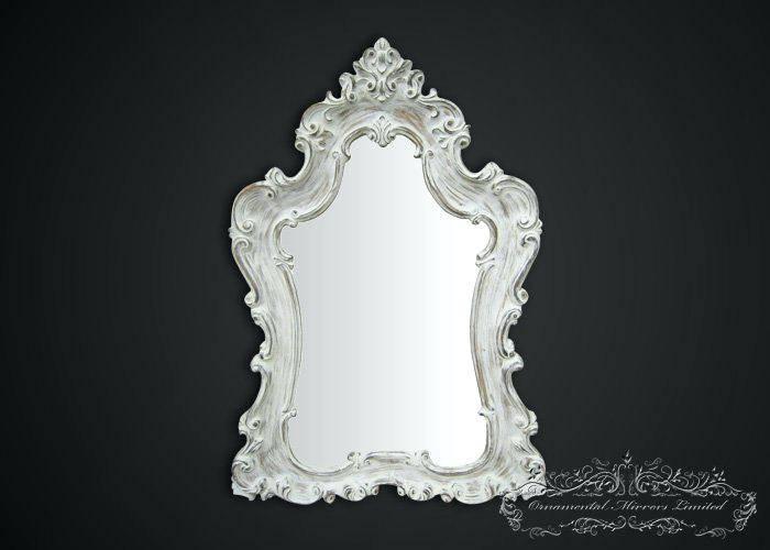 Shabby Chic White Mirror – Shopwiz Pertaining To Large Shabby Chic Mirrors (#17 of 20)