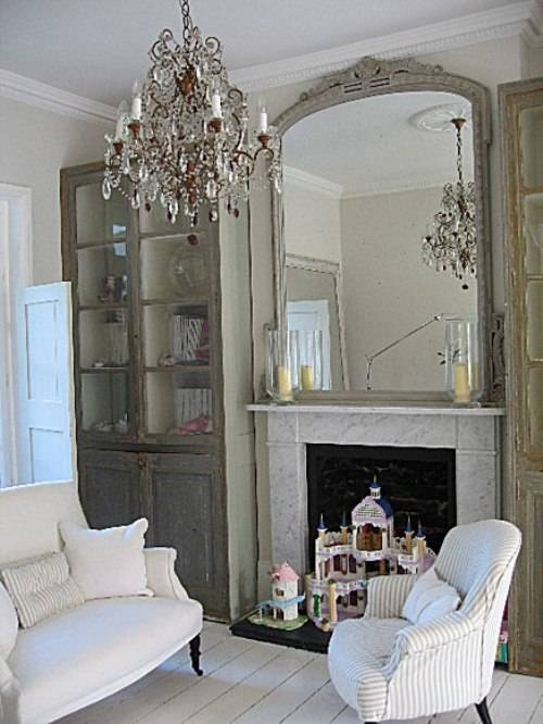 Shantygirlsfarmhouse: French Mirrors Guest Blogger Mari – Design Pertaining To Large White French Mirrors (#28 of 30)