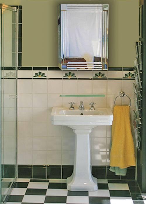 Art deco style bathroom mirrors