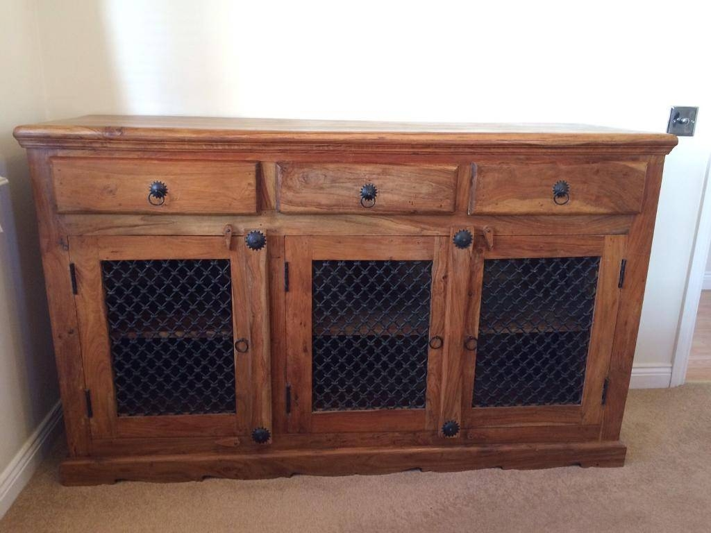 Sheesham Solid Wood Sideboard | In Waterlooville, Hampshire | Gumtree Inside Real Wood Sideboard (#12 of 20)