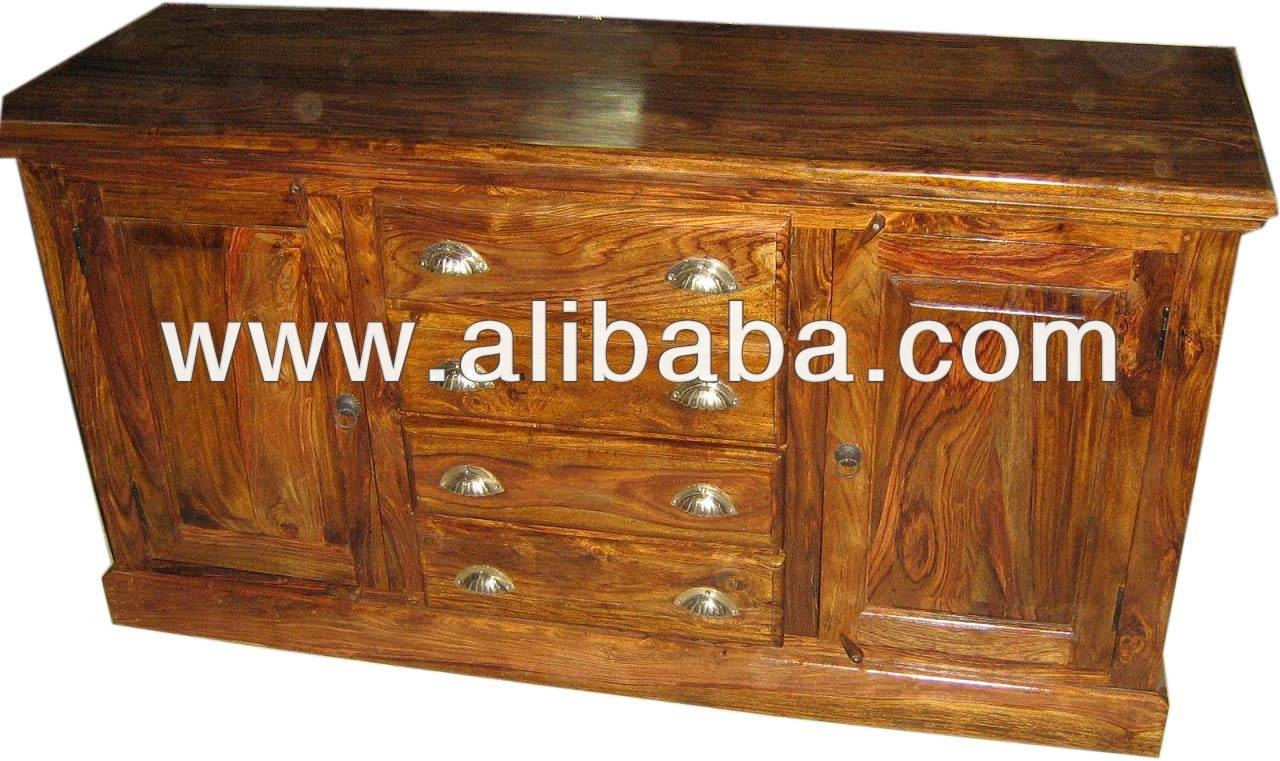 Sheesham Wood Sideboard, Sheesham Wood Sideboard Suppliers And Intended For Ready Assembled Sideboards (#16 of 20)