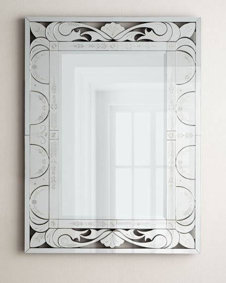 Shell Venetian Mirror Inside Rectangular Venetian Mirrors (#18 of 30)