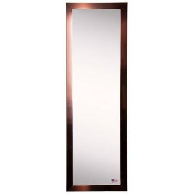 Shiny Bronze Full Length Tall Body Mirror | Allmodern With Tall Silver Mirrors (#12 of 20)