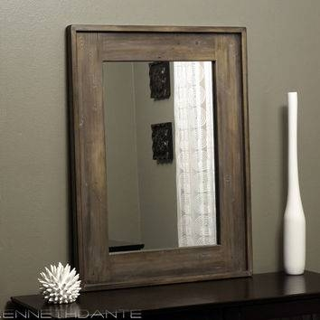 Shop Distressed Wood Mirror On Wanelo Intended For Distressed Framed Mirrors (#26 of 30)