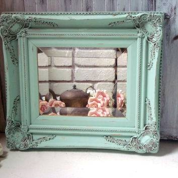 Shop Green Shabby Chic Mirrors On Wanelo For Vintage Shabby Chic Mirrors (View 15 of 20)