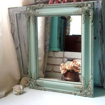 Shop Green Shabby Chic Mirrors On Wanelo Intended For Vintage Shabby Chic Mirrors (View 13 of 20)