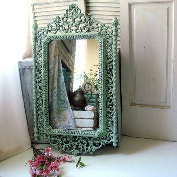Shop Green Shabby Chic Mirrors On Wanelo With Regard To Large Shabby Chic Mirrors (#19 of 20)
