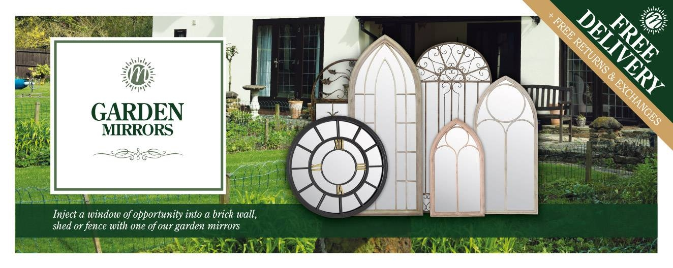 Shop Outside & Garden Mirrors | Mirror Outlet With Garden Mirrors (#27 of 30)