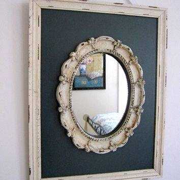 Shop Oval Painting Frames On Wanelo Regarding Oval Shabby Chic Mirrors (View 18 of 20)