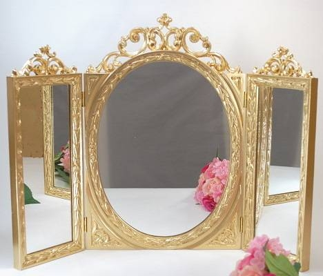 Shop Planta | Rakuten Global Market: Triple Mirror Gold Table Intended For Antique Triple Mirrors (#13 of 20)