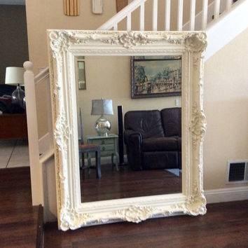 Popular Photo of Large White Ornate Mirrors