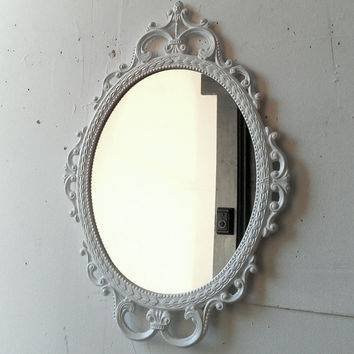 Shop White Ornate Mirror On Wanelo Regarding Ornate Oval Mirrors (#20 of 20)