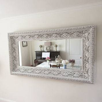 Shop White Shabby Chic Mirror On Wanelo Intended For Shabby Chic Mirrors With Shelf (#29 of 30)
