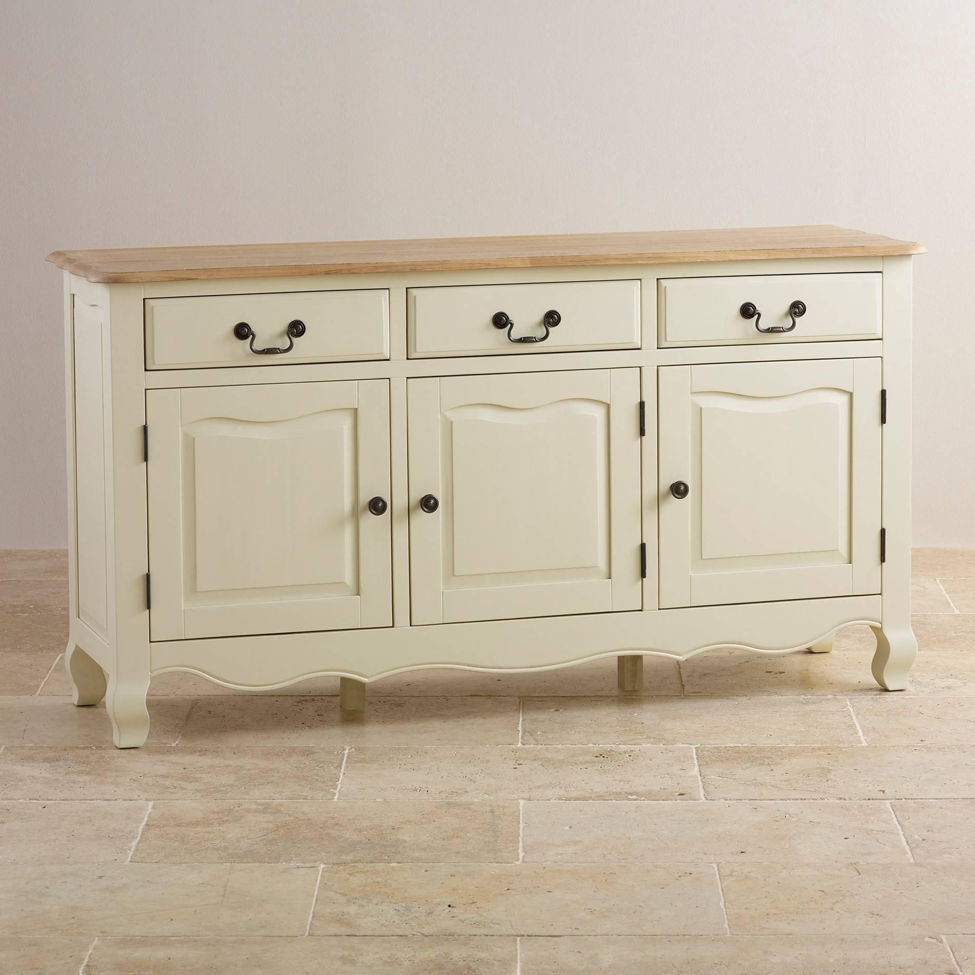 Sideboards | 100% Solid Hardwood | Oak Furniture Land In White Sideboards For Sale (#8 of 20)