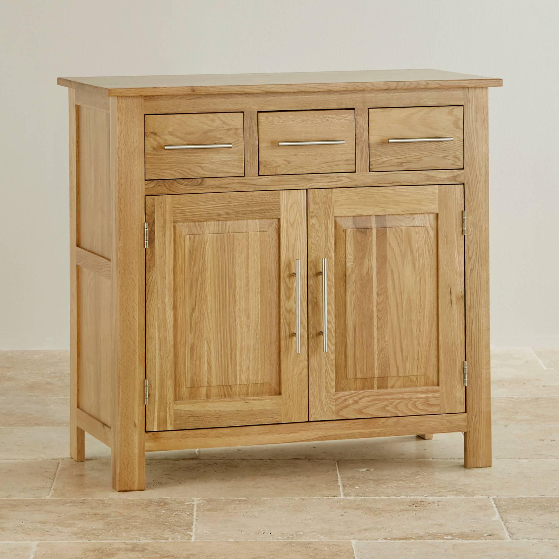 Sideboards | 100% Solid Hardwood | Oak Furniture Land With Regard To Narrow Oak Sideboard (#14 of 20)