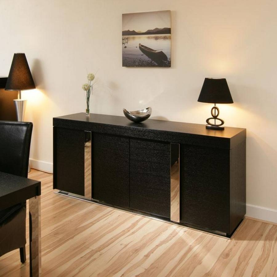 Sideboards: Amazing Black Sideboard Cabinet Ashley Furniture In Black Gloss Buffet Sideboard (View 7 of 20)