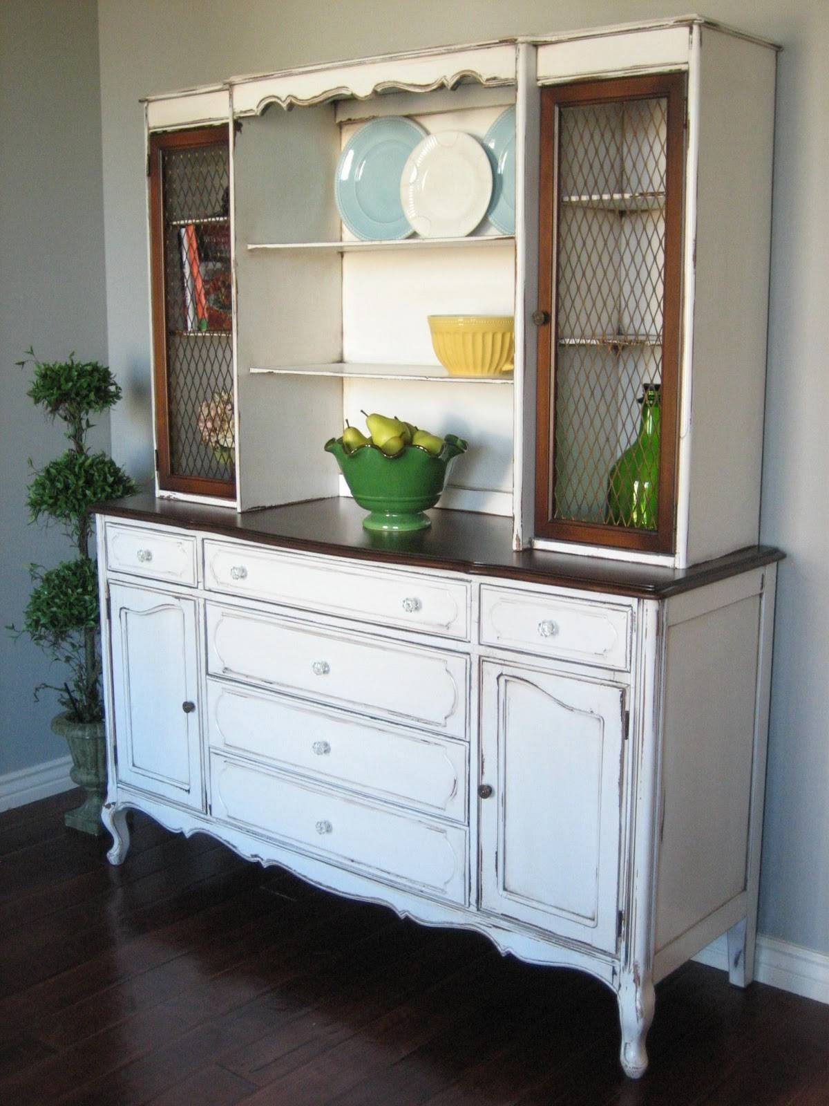 Sideboards: Amazing Rustic Buffet And Hutch Rustic Wood Hutch For Sideboards On Sale (#17 of 20)