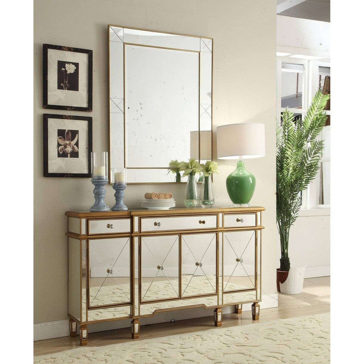 Sideboards: Astonishing Sideboard And Mirror White Mirrored With Sideboard Mirror (#18 of 20)