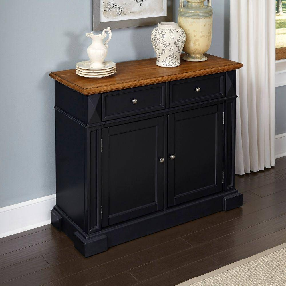 Sideboards & Buffets – Kitchen & Dining Room Furniture – The Home Regarding Black Sideboard Buffet (#16 of 20)