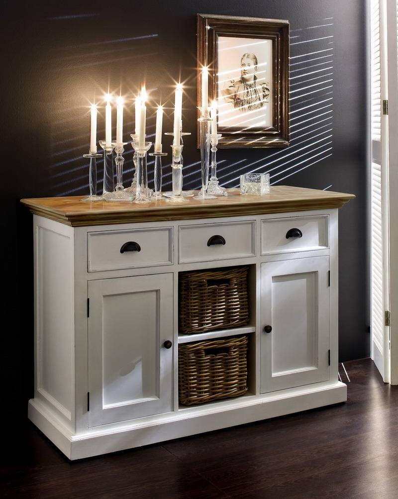 Sideboards: Extraordinary Kitchen Hutch Buffet Dining Hutches And Pertaining To Kitchen Sideboards White (#19 of 20)