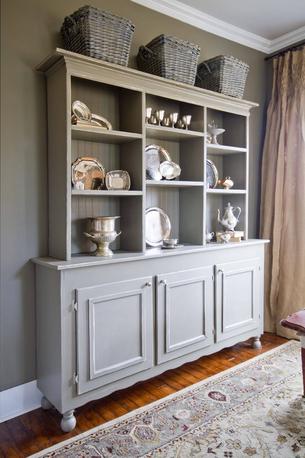 Sideboards: Stunning 12 Deep Sideboard Antique Buffet Table With Sideboard With Hutch (#18 of 20)