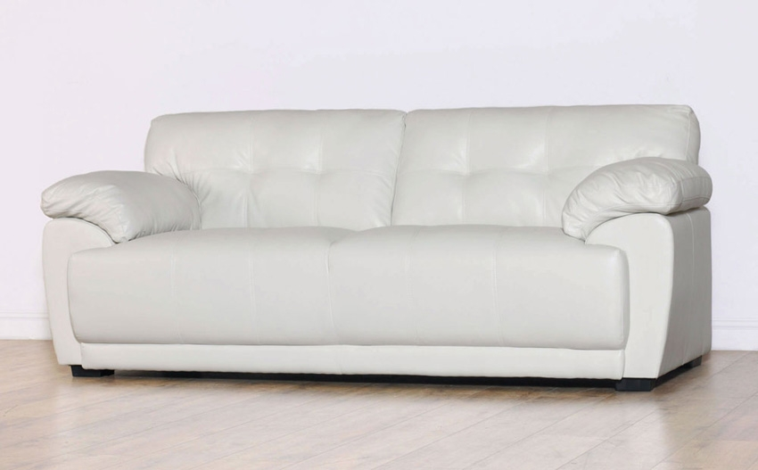 Sienna Ivory 3 Seater Leather Sofa Only 39999 Furniture Choice For Ivory Leather Sofas (#12 of 15)