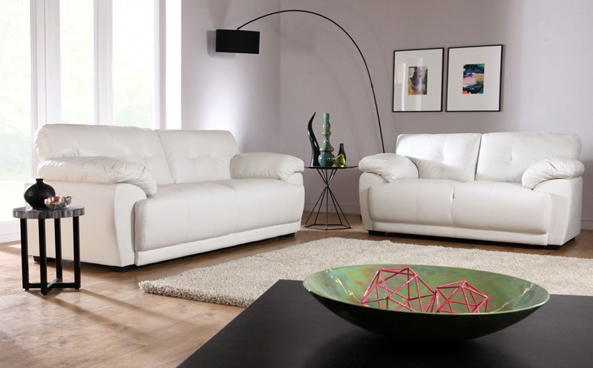 Sienna Ivory 32 Seater Leather Sofa Suite Only 69998 Pertaining To Ivory Leather Sofas (#13 of 15)