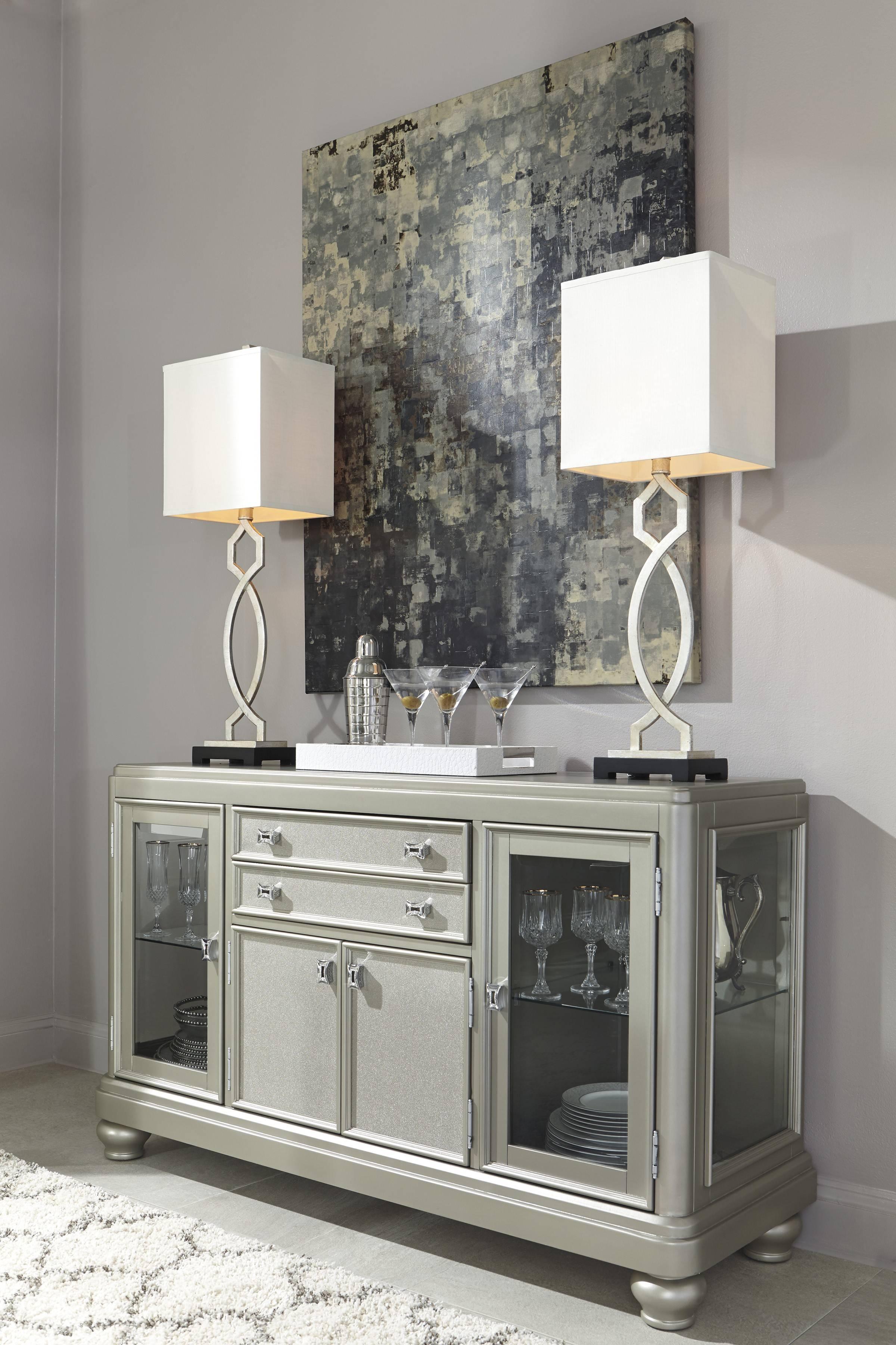 Signature Designashley Coralayne Silver Dining Room Server Inside Silver Sideboards (#17 of 20)