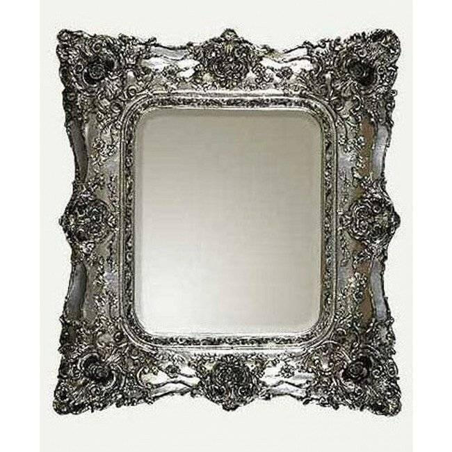 Silver Baroque Mirror In Silver Baroque Mirrors (View 18 of 30)