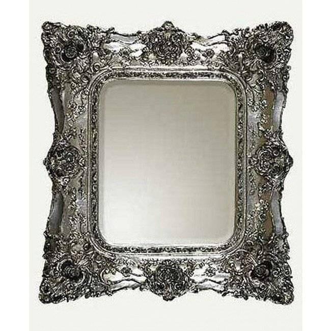 Silver Baroque Mirror In Silver Baroque Mirrors (#19 of 30)